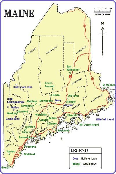 Stephen Kings Maine Maps coooollll StephenKing