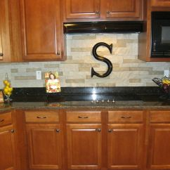 Stacked Stone Kitchen Backsplash Layout Ideas Our New We Used Airstone Sold At