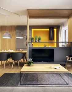Bar counter also projekt mieszkania na pradze home pinterest interiors living rh