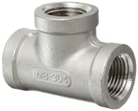 Stainless Steel 304 Cast Pipe Fitting, Tee, Class 150, 1/2