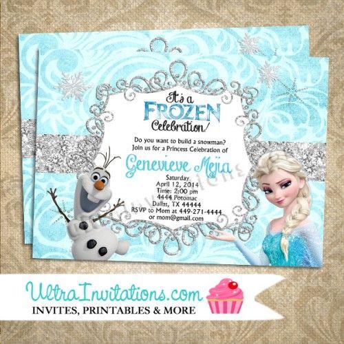 Party Ideas Disneys Frozen Invites On Pinterest Frozen Birthday Invitations Frozen Party