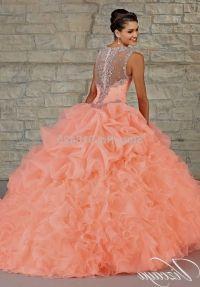 aliexpresscom-buy-peach-color-quinceanera-dress-ball-gown ...