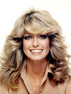 70'S Hair Farah Fawcett Started It All Feathered Hair With The