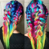 Crazy colorful hair colour ideas for long hair 4 ...
