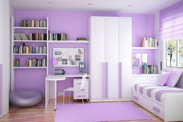 Purple girls bedroom decorating ideas with modern furniture sets picture also rh pinterest