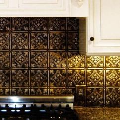 Copper Kitchen Sink Base Cabinet With Drawers Bronze Backsplash, White Cabinets, Rubbed Hardware ...