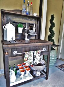 Diy Potting Bench Turned Outdoor Bar Garden And House