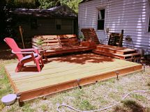 Deck And Relaxation Area Created Of Pallets
