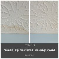 How To Touch Up Textured Ceiling Paint | Water stains ...
