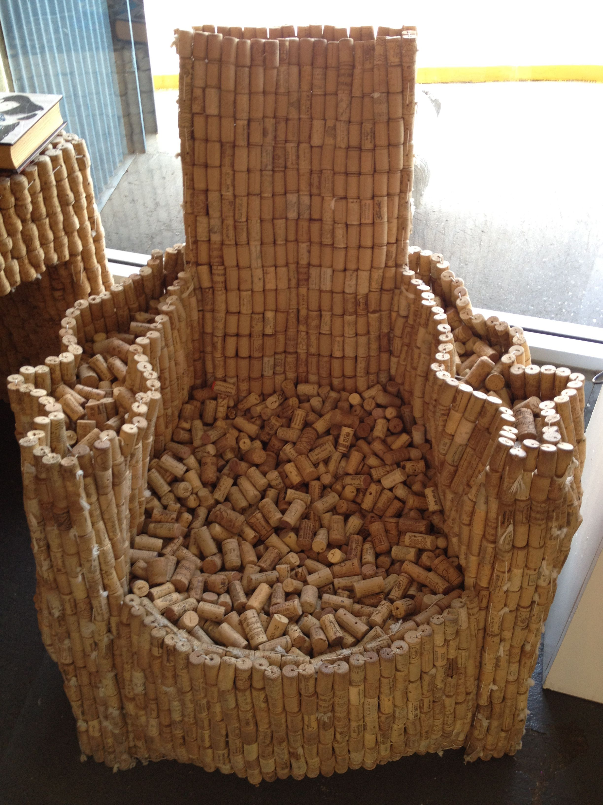 wine cork chair  bottle caps  Pinterest  Korken Kork