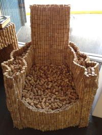 wine cork chair  | Pinteres