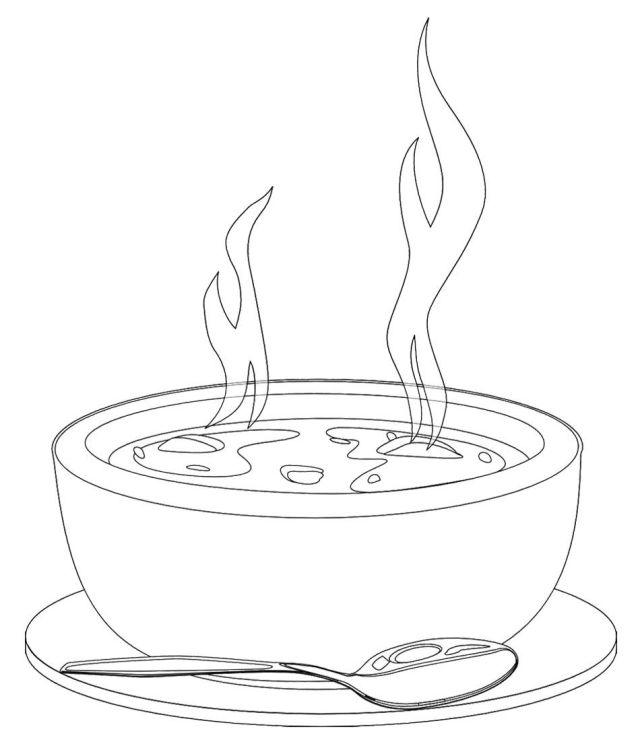 Soup bowl coloring pages