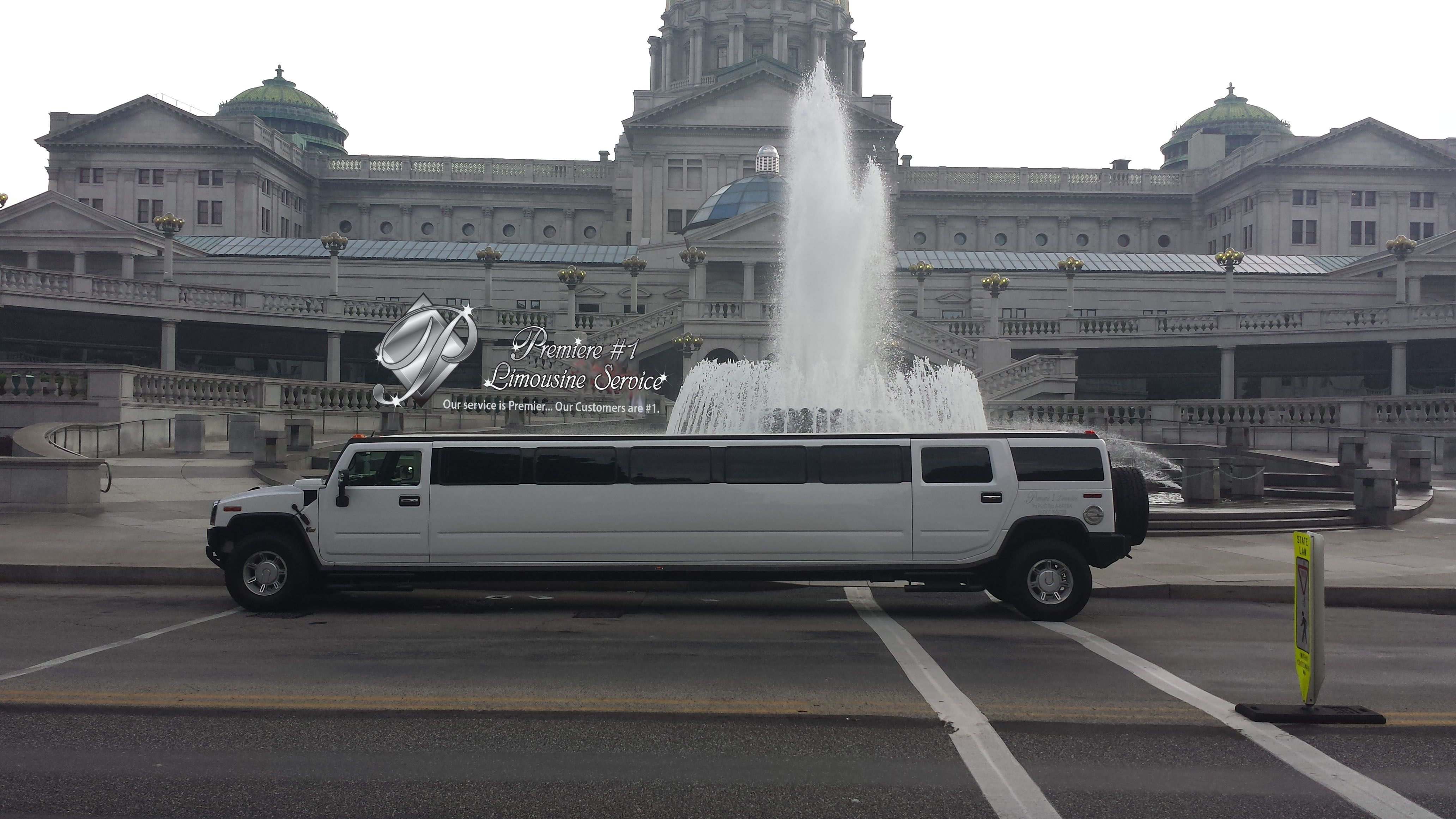 Hummer Harrisburg Capitol Limos Transportation Fountain