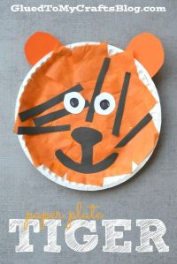 Paper Plate Tiger - Kid Craft | Tigers, Craft and Zoos