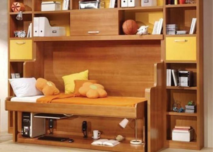 Hiddenbed fold out bed and desk mechanism also murphy desks