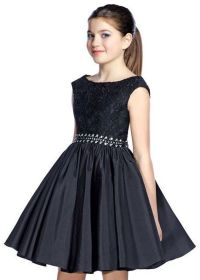 Lexie by Mon Cheri TW21534 Elegant Black Girls Party Dress