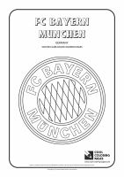 Cool Coloring Pages   Soccer Club Logos / FC Bayern ...
