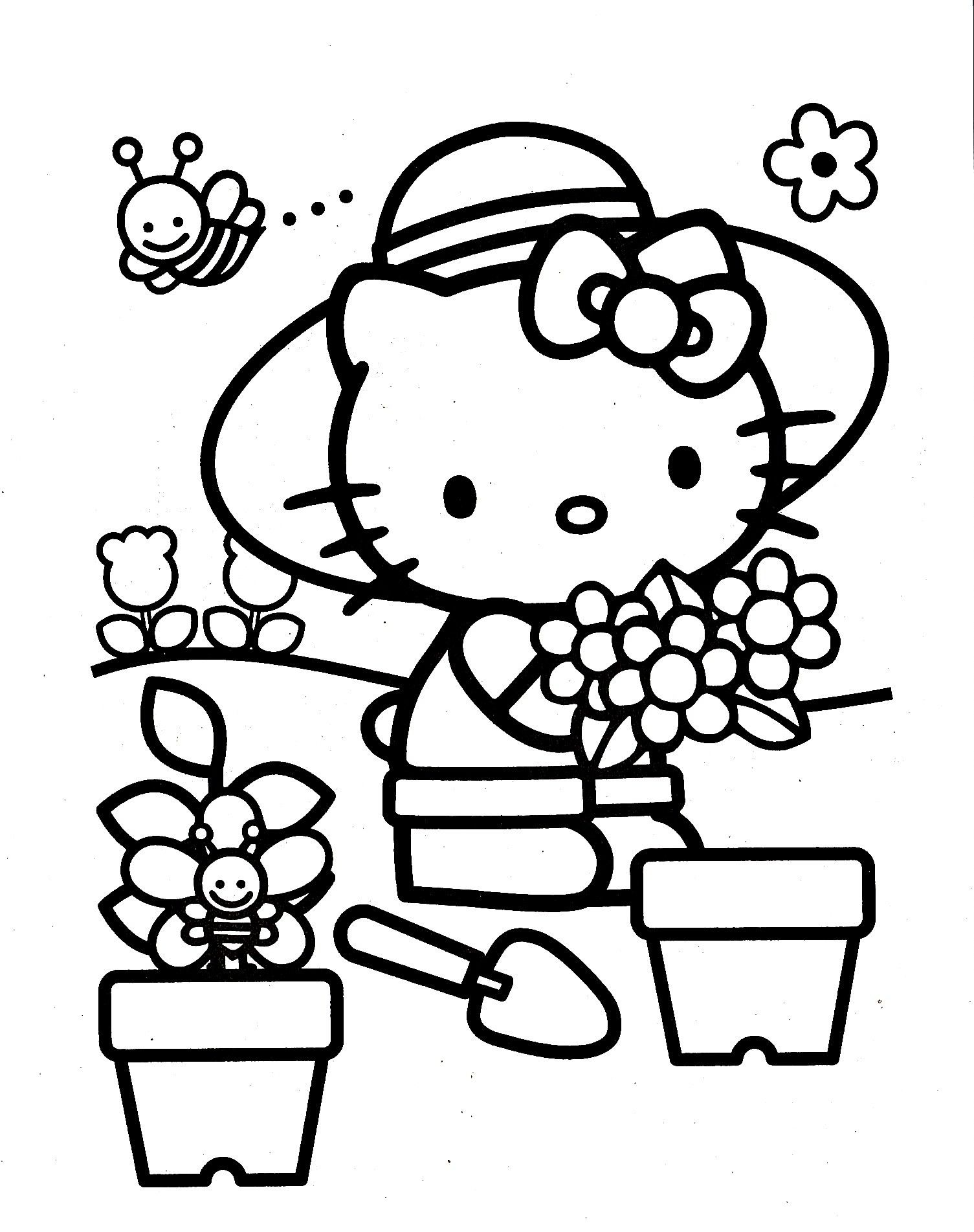The 25 Best Hello Kitty Colouring Pages Ideas On