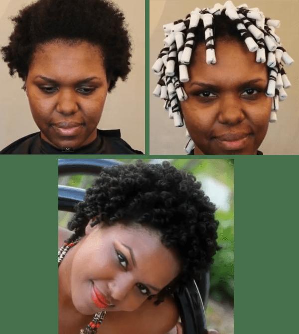 Perm Rod Set On 4b C Natural Hair Tutorial 4b Natural Hair