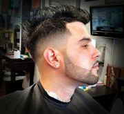 clean fade and beard line