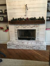 83 Modern Rustic Painted Brick Fireplaces Ideas | Paint ...
