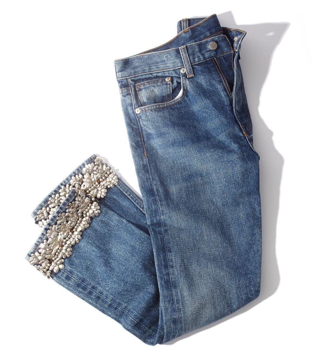 Brock Collection Silver Embellished Jean