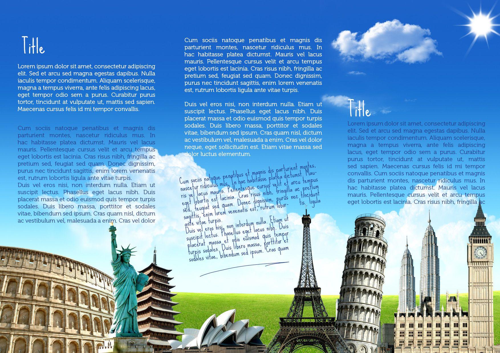 Travel Brochure Template Travel Brochures Pinterest