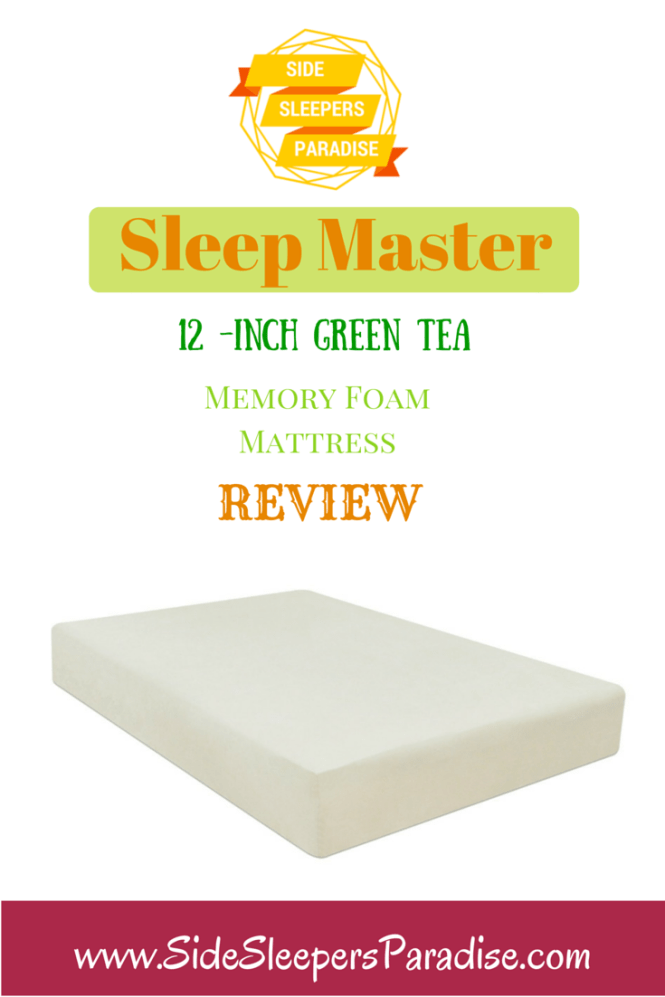 The Sleep Master 12 Inch Green Tea Memory Foam Mattress Is One Of Most