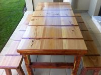 8 Foot Cypress and Cedar indoor/outdoor dining table ...