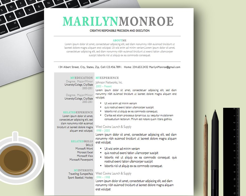 Premium And Creative Resume Templates Cover Letters ; Modern
