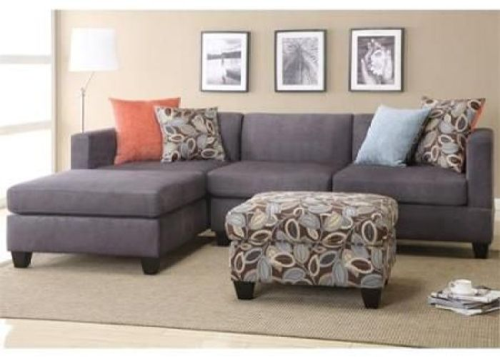 Poundex bobkona trinidad microfiber sectional sofa in charcoal walmart com also