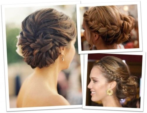 Easy Hairstyles For Weddings Guests With Braided Bun Pictures