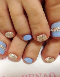 f63dbced8 Blue rhinestone toe nail art nailbook also nails pinterest rh au