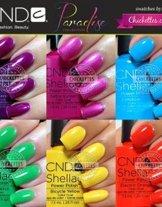 Cnd shellac paradise collection swatches  review summer chickettes nail colorscnd also new coming high quality pcs lot soak off uv led gel rh pinterest