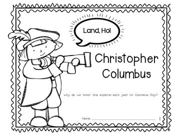 Columbus Day Reader {Rebus Story} for Kindergarten and