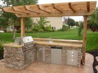 Small Outdoor Kitchen | Outdoor kitchens | Backyard ...