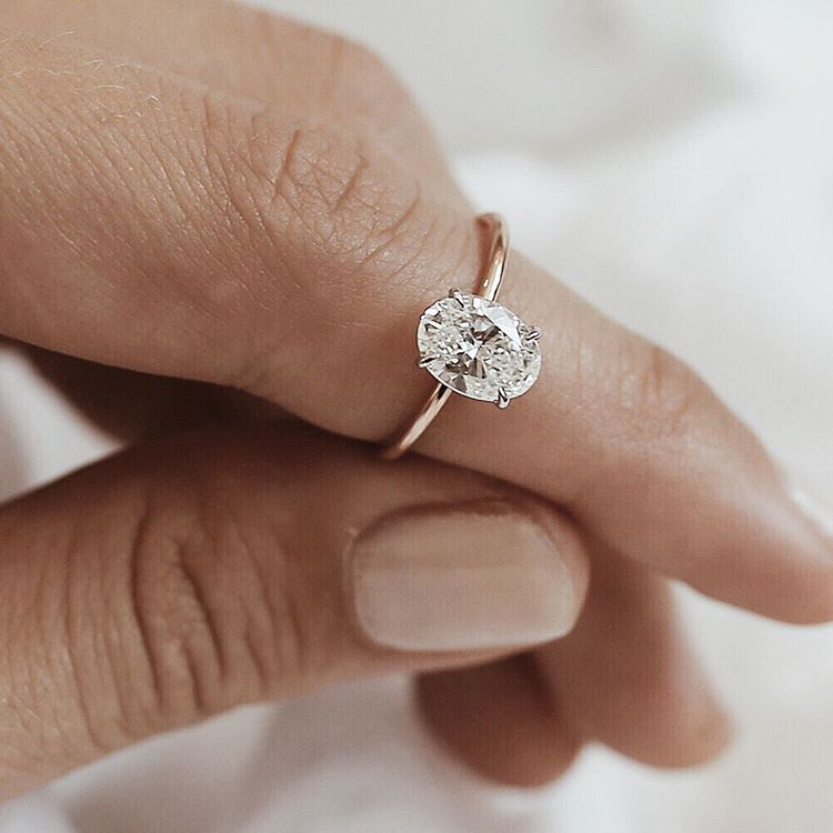Oval Solitaire Bespoke Engagement Ring A 15 carat