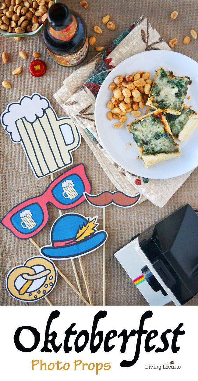 Oktoberfest Free Printable Photo Props  Free printable