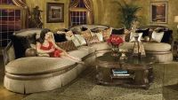 leather sectional traditional | ... >> Traditional Sofas ...