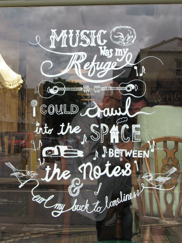Hand Drawn Window Sign- Food Offer