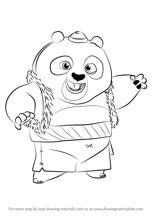 Learn How to Draw Bao from Kung Fu Panda 3 (Kung Fu Panda