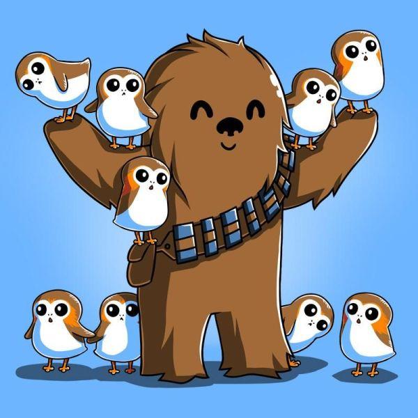 Star Wars Chewie and Porg