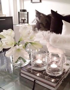 Chic modern living room with fresh flowers decor design lounge pinterest rooms and also rh nz
