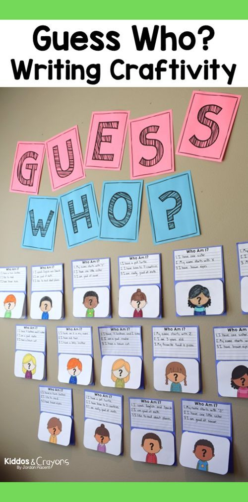 Guess Who? Back To School Writing Bulletin Board Idea Open House