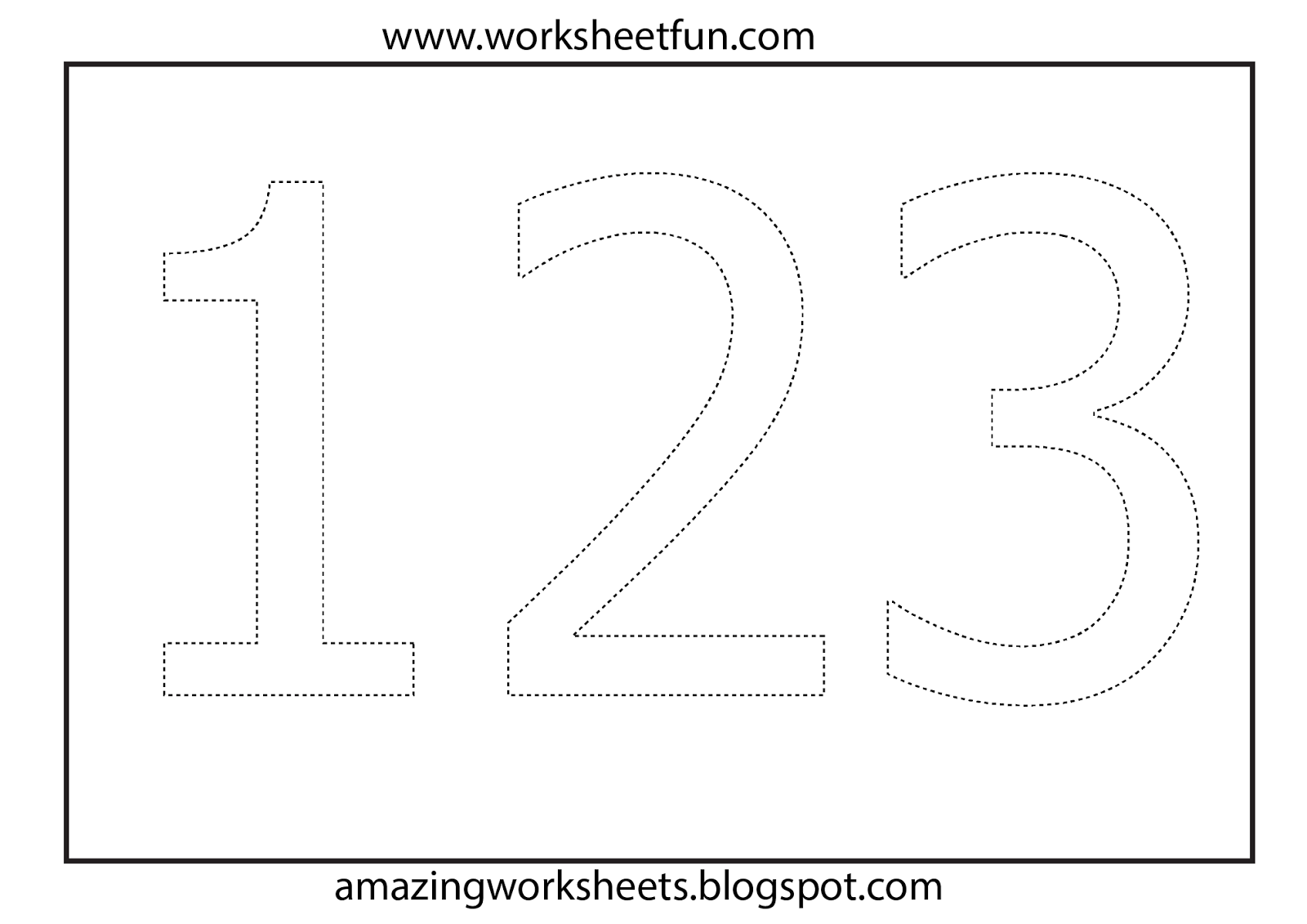 Worksheets For 2 Year Olds Number Coloring Worksheet