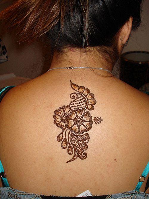 cute floral henna tattoo