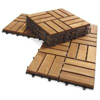 An instant teak floor for your deck or patio. i-want ...