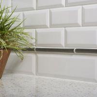 Bevel Subway Ceramic Tile   Kitchen   Bathroom   Wall ...