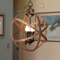 "ORB CHANDELIER LIGHT 14"" Atomic Light Fixture Industrial ..."