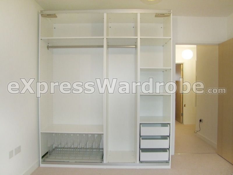 Ikea pax sliding door wardrobe cm internal design white also armario blanco products and rh pinterest